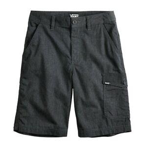 VANS Goodsman Boys Shorts Charcoal Gray New