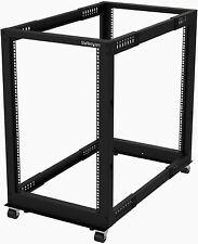 """StarTech.com 18U 19"""" Open Frame Server Rack - 4 Post Adjustable Depth 22-40"""" Mob"""