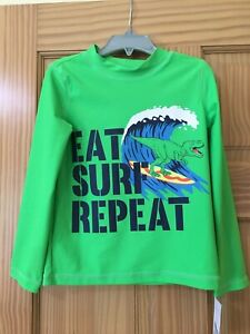 New Carter's Surf Rash Guard Top Swimsuit UPF 50+ many sizes Green