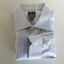 Jos. A. Bank Mens 17 1/2 -34 Blue Striped Long Sleeve Dress Shirt