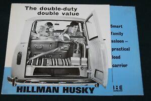 Hillman Husky Smart Family Saloon Sales Folder circa 1960