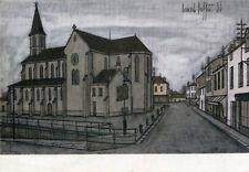 Carte Eglise en 1955 Peinture de Bernard Buffet