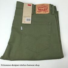 Levis Pantalón Corto Para Hombre 511 Slim Fit interrumpe Chino Smart Verde Khaki corto W38 RRP £ 65