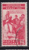 VATICANO 1935 Congresso Giuridico 75 cent. used  cv 105$ light cancellation