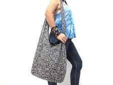 COOL! SLING SHOULDER BAG CROSSBODY HOBO HMONG THAI ADVENTURE BLACK BEACH NEW