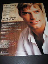 Ricky Martin is Sound Loaded 2000 Promo Poster Ad Mint