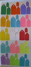 Cardstock Blank Gift Hang Tags Choice of Colors Sizes Scalloped Top Edge Lot 50