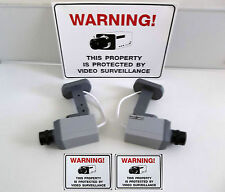 FAKE SECURITY DUMMY CAM CCTV SURVEILLANCE CAMERAS+LED+SIGNS