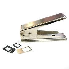 Standard normale carta Micro SIM a Nano CUTTER TAGLIO coltura per iPhone 5G 5 + ADATTATORE