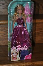 Barbie Fairytale Magic Princess Blonde Glitter Pink Dress 2010 Doll T7589 NEW