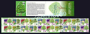 1999 Malaysia Trees 20v Stamps Booklet Mint NH