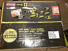 RYOBI 18-Volt ONE+ Lithium-Ion Cordless 6-Tool Combo Kit SAW HAS BEEN USED ONLY