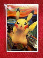 Pokemon Center Japan -Munch The scream Pikachu Eevee Mimikyu Psyduck- Post Card