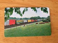 Burlington Route Pocket 1966 Calendar/ Ruler Railroad Train Image Wallet Size