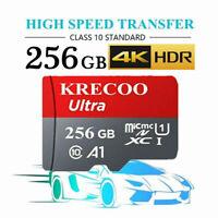 256GB Micro SD Memory Card 275MB/S 4K Class10 Flash TF Card for Camera&Car&Phone