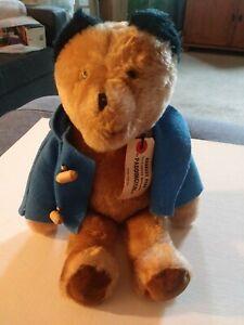 LOT Vintage 1975 PADDINGTON BEAR Eden Darkest Peru  Blue Coat with tag