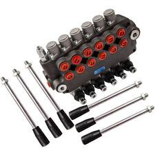 6 Spool Hydraulic Directional Control Valve 21 Gpm 3625psi 2 Joysticks 80lmin