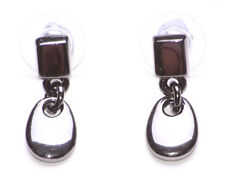 GLOSSY GUNMETAL STUD & DROP PENDANT EARRINGS FOR A TOUCH OF EDGY GLAM (ZX47)