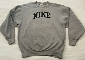 Men's Nike Silver Tag Vintage Sweatshirt Size Adult MT Medium Tall Gray