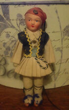 vintage celluloid Turkish Greek boy rag cloth doll crown pin
