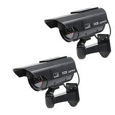 2 X Solarenergie Kamera Dummy Überwachungskamera Attrappe Alarmanlage schwarz