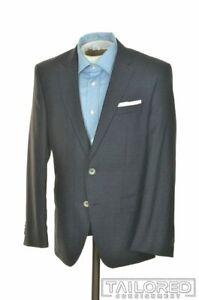 NWT $645 - HUGO BOSS Blue Check 100% Wool Mens Blazer Sport Coat Jacket - 38 S