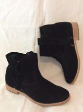 SOLUDOS Black Ankle Suede Boots Size 6.5Uk