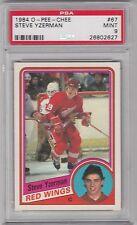 1984 O - Pee - Chee, Steve Yzerman, Detroit Red Wings, PSA 9, MINT