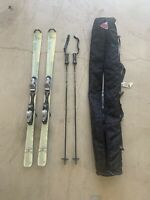 Rossignol Saphir Snow 162cm Skis Rossignol 100 Bindings + K2 Bag & Goode Poles
