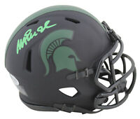 Michigan State Magic Johnson Signed Eclipse Speed Mini Helmet BAS Witnessed