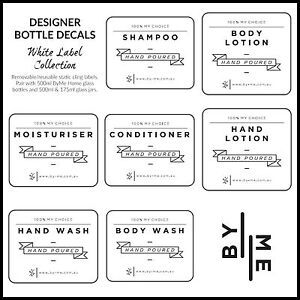 Designer bottle labels / decals - White label collection (SMALL)