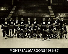 Montreal Maroons 1936-37 - 8x10 B&W Team Photo