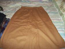 KORET CAREER tan/brown 100% MERINO wool skirt  adjustable size 14