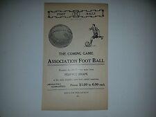 Soccer Association Football 1908 Reach Advertisement Ad