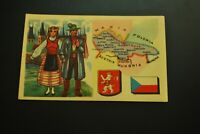 Vintage Cigarettes Card. Czechoslovakia . REGIONS OF THE WORLD COLLECTION