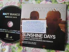 Matt Bianco Sunshine Days The Official Greatest Hits Ear 0205581EREP UK CD Album