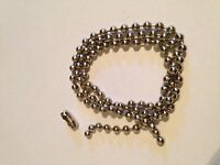 Roller / Roman Metal Nickel ball chain   - 4.5mm Ball  - Sold by the Metre