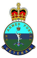 Royal Corps Of Signals HM Armed Forces Veterans Clear Cling Sticker