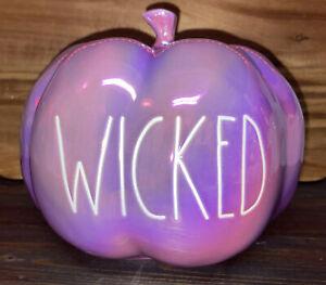 Rae Dunn Iridescent Wicked Purple Pumpkin 🎃