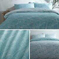 Blue Duvet Covers Turquoise Town City Print Reversible Quilt Cover Bedding Sets