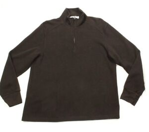 Calvin Klein Men's Brown Quarter-Zip Sweater Size L