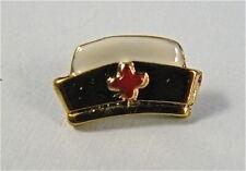 Vintage Nurse hat gold tone  metal brooch, tack pin, Lapel pin