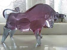 Murano Art Glass Bull Sculpture 22.5 cm long Zenetti style design colour change