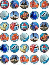30 PRECUT Finding Nemo/Dory Edible Cupcake Topper Party Decoration