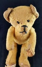 "ANTIQUE LIKELY STEIFF JOINTED EARLY 1900'S  TEDDY BEAR STRAW FILLED 12"" INCH OLD"