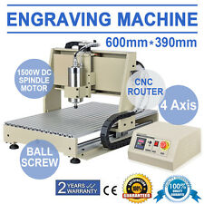 New listing Eu 220V 4 Axis 6040T Cnc Router Engravering 1.5Kw Vfd Drilling Milling Machine
