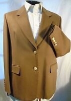 AQUASCUTUM CLASSIC ELEGANT TAILORED CAMEL 100% CASHMERE JACKET UK 16 EU 44 US 14