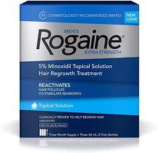 ROGAINE Mens 5% Minoxidil Unscented Foam - 3 Months Supply exp.2024/01