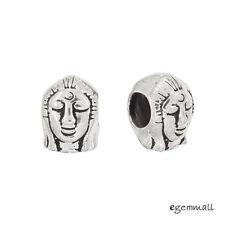 1PC Antique Sterling Silver Thai Buddha Face European Charm Bead #99365