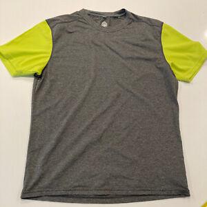 Club Ride Men's Cycling Jersey Gray-Lime Size Medium MTB Shirt